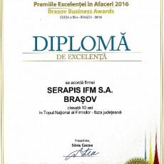 Diploma Excelenta 2016